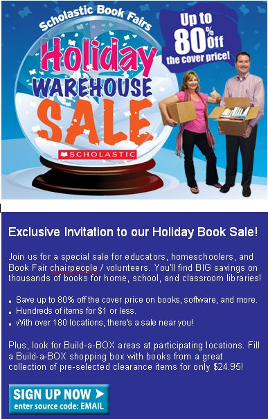 Great deals abound at the Scholastic Warehouse sales!