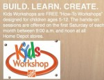home depot kid workshop